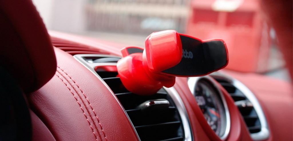 Автомобильный держатель на воздуховод, Onetto Easy One Handed Air Vent Mount красный