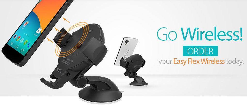 Автодержатель с функцией беспроводной зарядки Onetto Easy One Touch Wireless Qi Standard