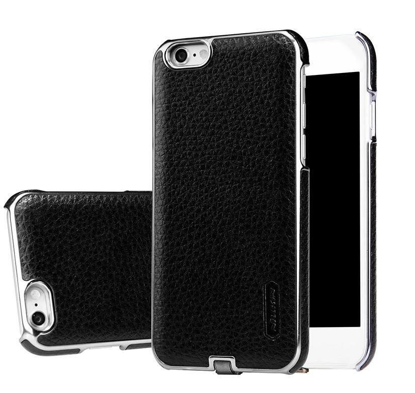 Чехол-ресивер беспроводной зарядки для Apple Iphone 6 N-JARL (чёрный кожаный)