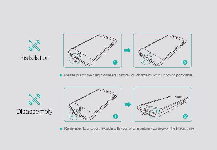 Чехол-ресивер Qi для iPhone 6